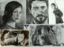 The Last Of Us drawing collage by zakValkyrie