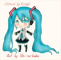 Chibi Miku Colored by Me by Rody2