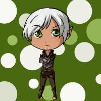 Dragon Age: Chibi Fenris by BlackBerryJelly
