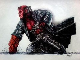 HellBoy - Ballpoint Pen by srimant