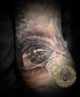 Realistic eye tattoo by 2Face-Tattoo