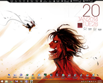 Attack on Titan Rainmeter by maazwitwicky