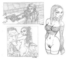 COMICS: Fake Page and naked REBECCA by StephenBJones