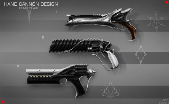 HAND CANNON DESIGN / CONCEPT ART by nobody00000000