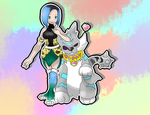 Katy and Puppy want to battle by JADrawings
