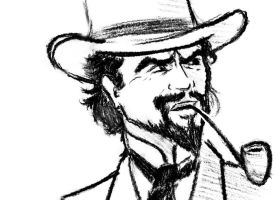 Django Unchained - Calvin Candy rough sketch by Rocket-Buddha