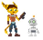 Ratchet and Clank - Pixel by drin-chan