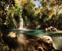 Tranquil waterfall by titah