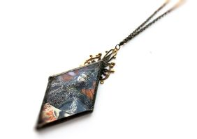 Original Collage Necklace by asunder