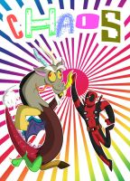 Discord and Deadpool: a Tool and a Fool by MrSpartin