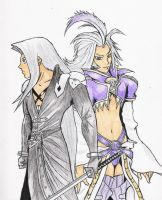 Dissidia - Kuja and Seph by Llewxam888