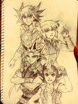 4 Yugioh Protagonists by Ycajal