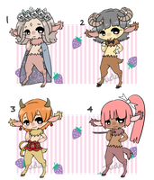 Satyr male batch [2/4 left] by BroodyAdopts