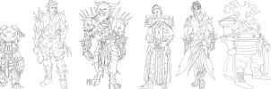 Guild Wars 2 Characters WIP by SweetAveryMoon