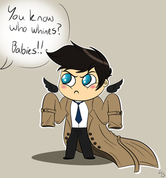 Baby in a trench coat by LadySunny16