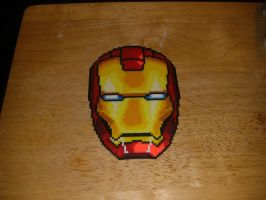 IronMan Perler Pixel Art by Spevial101