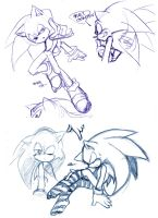 Sonic draws by Naplez