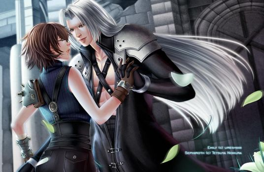 Commission: Emily and Sephiroth by nekoyasha89
