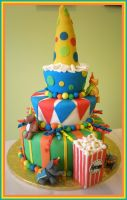 Big Momma Circus Cake by Heidilu22