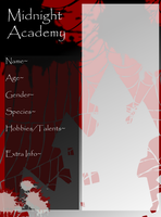 MNA Student Application Sheet by emibean95