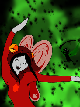 Aradia-Bec: Frolic in Space? by Reina-of-Sand