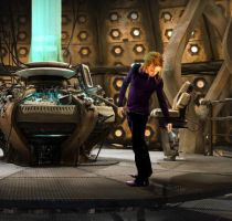 Tim Minchin in the TARDIS by Isensmith