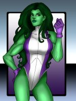 She Hulk colored by Balsavor