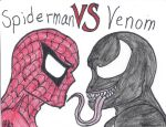 Spiderman VS Venom by fullhousekissrox