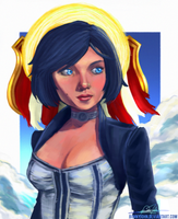 Elizabeth/Bioshock Infinite w/ Speed Painting Vid! by BonnyJohn