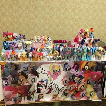 Everfree Northwest Vendor Table Day 1 - 5/13/16 by RubioWolf