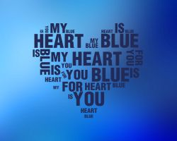 My heart is blue for you.. by theWickeDesign