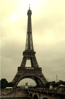 Eiffel Tower and Bridge by NajaranaKryska