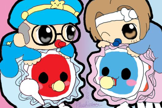 The Baby Rookies and Taikos by plushietoon
