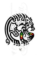Tribal rasta lion by dfmurcia