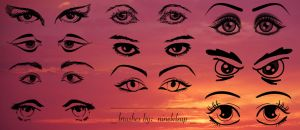 Eyes With Eyebrows Brushes by ninelvlsup