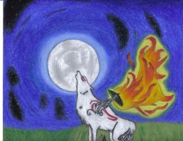 Howling at the moon completed by amaterasu12