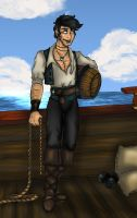 deckhand Blake Thompson by OhSadface