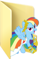 Rainbow Dash Gala folder icon by Julunis14