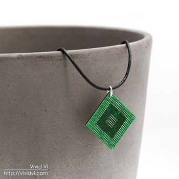Upcycled CPU/IC pendant by VividVi