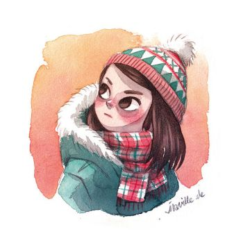 winter girl by Iraville