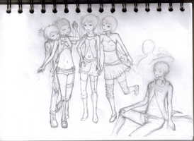 Heavy Metal Vocaloids WIP by PirateCandy