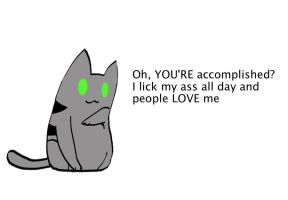 Condescending Cat by S-M-Batty