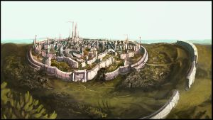 Universal Edge / Majestic city of Taldaria by Art-Calavera