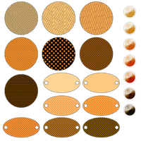 Patterned Orange Tags by noema-13