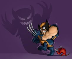 scared wolvie by LOLONGX