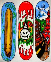 Skateboard graphic lib tech submitions by Markemarksk8