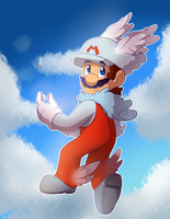 Wing Cloud Mario by BaconBloodFire