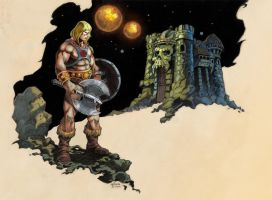 He-man And Grayskull color by NathanRosario
