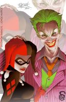 Joker and Harley Quinn by sixfrid