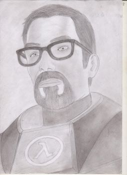 Gordon Freeman by SanitarGKB4